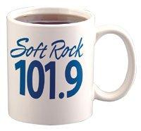 mug with radio station logo